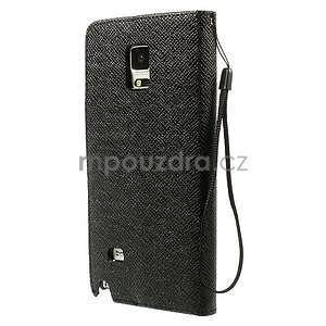 Zapínací peněženkové poudzro Samsung Galaxy Note 4 - černé - 2