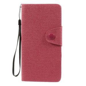 Zapínací peněženkové poudzro Samsung Galaxy Note 4 - rose - 2