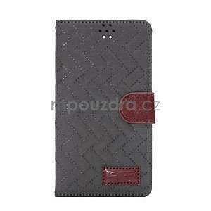 Elegantní penženkové pouzdro na Samsung Galaxy Note 4 - šedé - 2