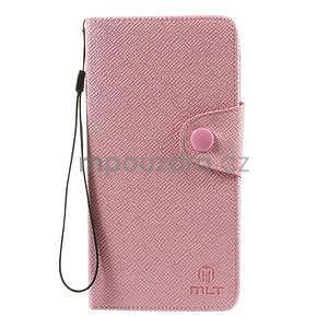Zapínací peněženkové poudzro Samsung Galaxy Note 4 - růžové - 2
