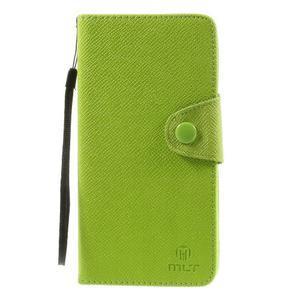 Zapínací pěneženkové poudzro Samsung Galaxy Note 4 - zelené - 2