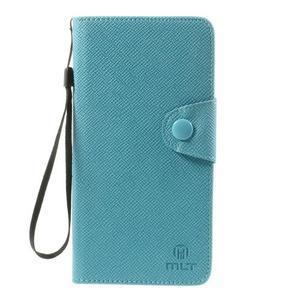 Zapínací peněženkové poudzro Samsung Galaxy Note 4 - světle modré - 2