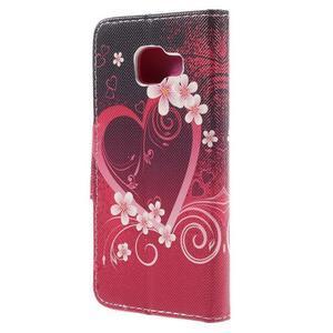 Peněženkové pouzdro na mobil Samsung Galaxy A3 (2016) - srdce - 2
