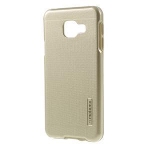 Odolný ochranný obal 2v1 na mobil Samsung Galaxy A3 (2016) - zlatý - 2