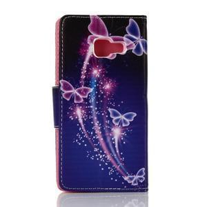 Rich PU kožené pouzdro na mobil Samsung Galaxy A3 (2016) - kouzelní motýlci - 2