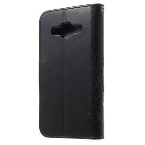 Butterfly PU kožené pouzdro na Samsung Galaxy Core Prime - černé - 2