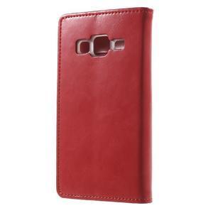 Moon PU kožené pouzdro na mobil Samsung Galaxy Core Prime - červené - 2