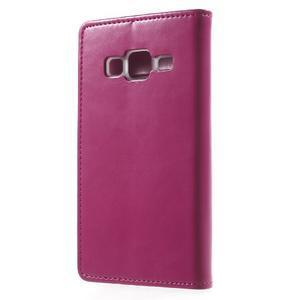 Moon PU kožené pouzdro na mobil Samsung Galaxy Core Prime - rose - 2