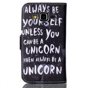 Emotive peněženkové pouzdro na Samsung Galaxy Core Prime - unicorn - 2