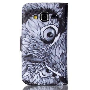 Emotive peněženkové pouzdro na Samsung Galaxy Core Prime - sova - 2