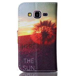 Emotive peněženkové pouzdro na Samsung Galaxy Core Prime - východ slunce - 2