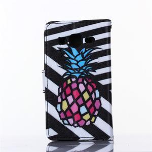 Standy peněženkové pouzdro na Samsung Galaxy Core Prime - ananas - 2