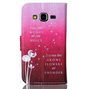 Emotive peněženkové pouzdro na Samsung Galaxy Core Prime - pampelišky - 2