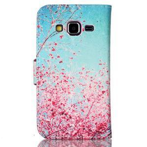 Emotive peněženkové pouzdro na Samsung Galaxy Core Prime - kvetoucí švestka - 2
