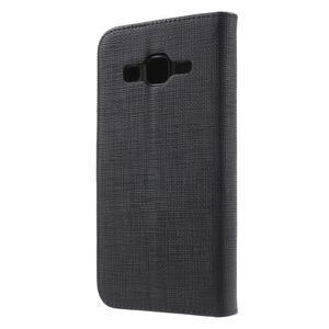 Clothy peněženkové pouzdro na Samsung Galaxy Core Prime - černé - 2