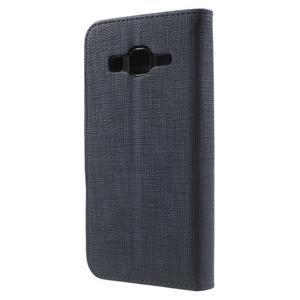 Clothy peněženkové pouzdro na Samsung Galaxy Core Prime - tmavěmodré - 2