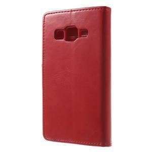 Moonleather PU kožené pouzdro na Samsung Galaxy Core Prime - červené - 2