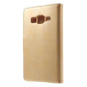 Moonleather PU kožené pouzdro na Samsung Galaxy Core Prime - zlaté - 2