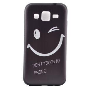 Hardy gelový obal na mobil Samsung Galaxy Core Prime - nedotýkat se - 2