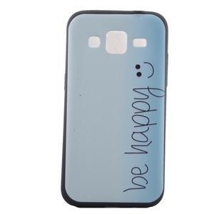 Hardy gelový obal na mobil Samsung Galaxy Core Prime - be happy - 2