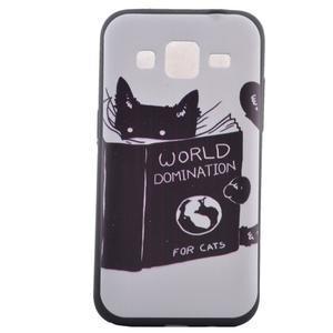 Hardy gelový obal na mobil Samsung Galaxy Core Prime - kočička čte - 2