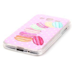 Softy gelový obal Samsung Galaxy Core Prime - makrónky - 2