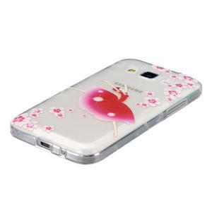 Transparentní gelový obal na Samsung Galaxy Core Prime - květinová dívka - 2