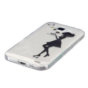 Transparentní gelový obal na Samsung Galaxy Core Prime - dívka pampelišek - 2