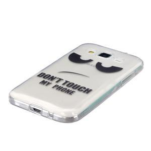 Transparentní gelový obal na Samsung Galaxy Core Prime - nedotýkat se - 2