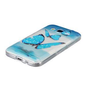 Transparentní gelový obal na Samsung Galaxy Core Prime - modří motýlci - 2