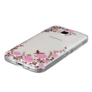 Transparentní gelový obal na Samsung Galaxy Core Prime - květiny - 2