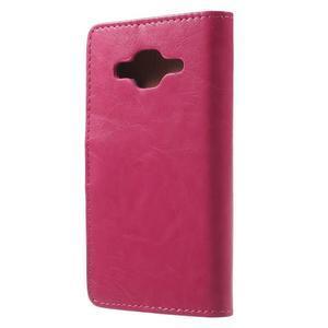 Horse PU kožené pouzdro na mobil Samsung Galaxy Core Prime - rose - 2