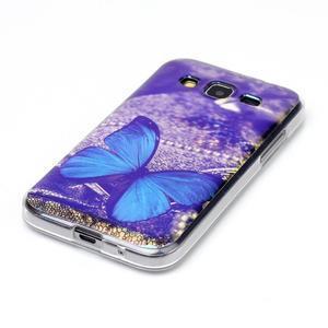 Bluray gelový obal s odlesky na Samsung Galaxy Core Prime - modrý motýl - 2