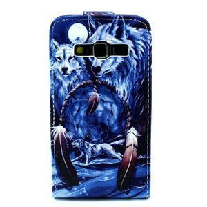 Flipové pouzdro na mobil Samsung Galaxy Core Prime - magičtí vlci - 2