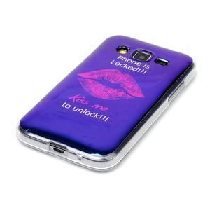 Bluray gelový obal s odlesky na Samsung Galaxy Core Prime - sexy rty - 2