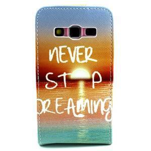 Flipové pouzdro na mobil Samsung Galaxy Core Prime - nepřestávej snít - 2