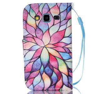 Pictu pouzdro na mobil Samsung Galaxy Core Prime - malované květy - 2