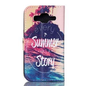 Knížkové pouzdro na Samsung Galaxy Core Prime - letní story - 2