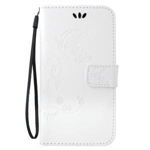 Magicfly PU kožené pouzdro na mobil Samsung Galaxy J1 (2016) - bílé - 2