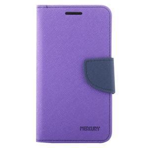 Diary PU kožené pouzdro na Samsung Galaxy J1 (2016) - fialové - 2