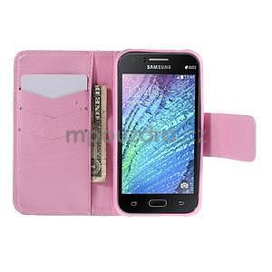 Zapínací pouzdro pro Samsung Galaxy J1 - fialová pampeliška - 2