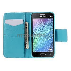 Zapínací pouzdro pro Samsung Galaxy J1 - vodní květina - 2
