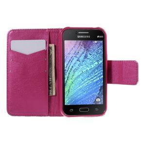 Zapínací pouzdro pro Samsung Galaxy J1 - červená květina - 2