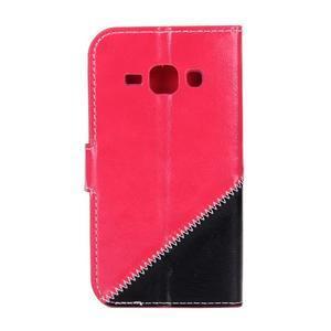 Peněženkové pouzdro Diagonal na Samsung Galaxy J1 - rose/černé - 2