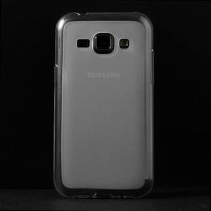 Matný gelový obal na Samsung Galaxy J1 - bílý - 2