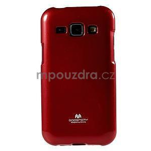 Červený gelový obal na Samsung Galaxy J1 - 2