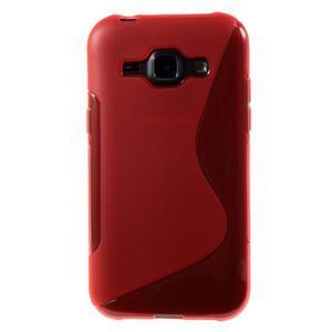 Červený gelový s-line obal Samsung Galaxy J1 - 2
