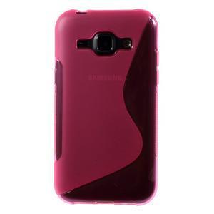 Rose gelový s-line obal Samsung Galaxy J1 - 2