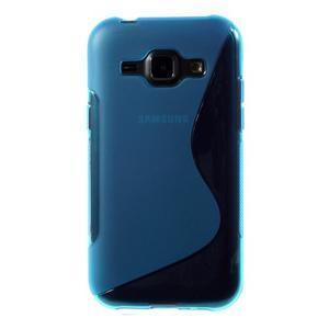 Modrý gelový s-line obal Samsung Galaxy J1 - 2