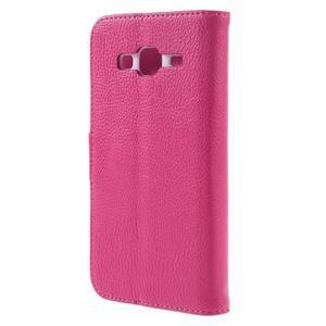 High PU kožené pouzdro na mobil Samsung Galaxy J3 (2016) - rose - 2